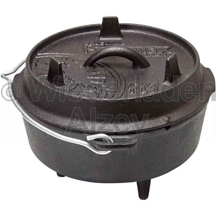 Dutch Oven Feuertopf mit Standfüßen, Modell FT3