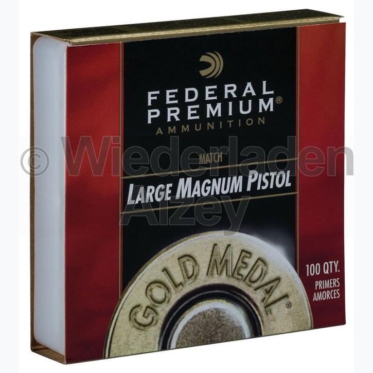 Federal 155, Large Pistol Magnum, Gold Medal Zündhütchen