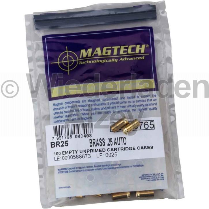 6,35mm Browning bzw. .25 ACP Magtech Hülsen