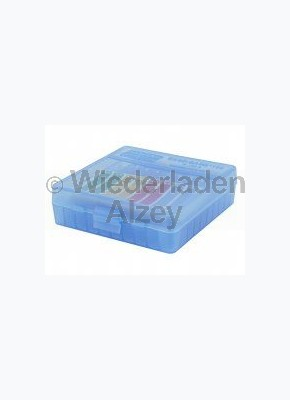 100er MTM Patronenbox, Klappdeckel, schwarz/grün, 9 mm Para, MTM Art.-Nr.: P-100-9-16T