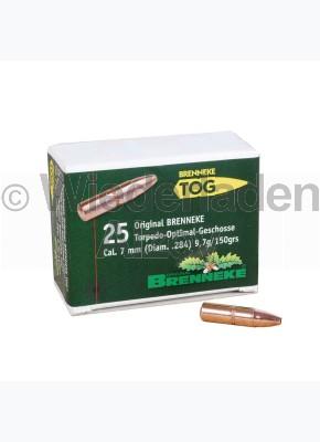 7 mm, 9,7 Gramm bzw. 150 grain, Brenneke Geschosse, TOG (Torpedo-Optimal Geschoss), Art.-Nr.: 49370000