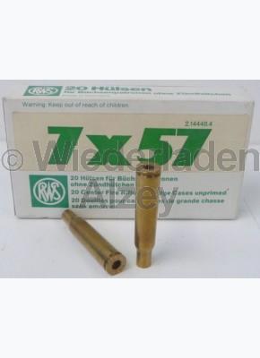 7 x 57 RWS Hülsen, neutrale Verpackung