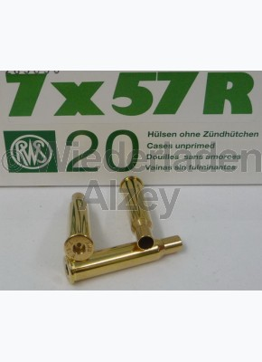 7 x 57 R RWS Hülsen, neutrale Verpackung