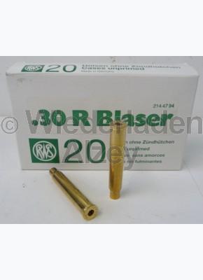 .30 R Blaser RWS Hülsen, neutrale Verpackung