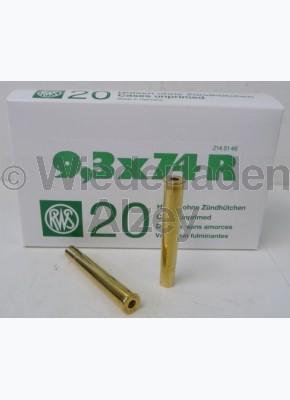 9,3 x 74 R RWS Hülsen, neutrale Verpackung