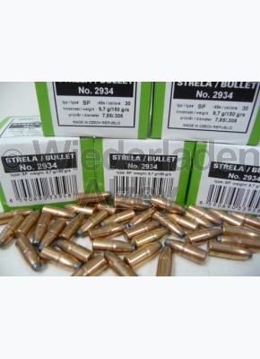 .308, 150 grain, S & B Geschosse, Teilmantel-flach, Art.-Nr.: 2934