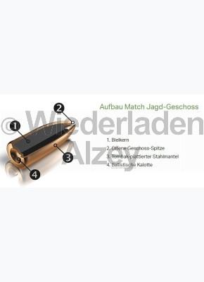 RWS Geschosse, .224, 52 grain, 3,4 g, Match-Jagd / Scheibengeschoss (100er Pack in neutraler Verpackung)