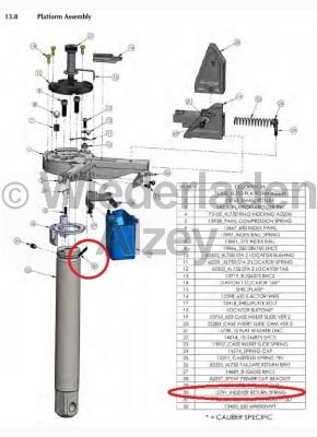 Dillon XL 650 / XL 750, Umsetzer Rückholfeder - Indexer Return Spring, Art.Nr.: 13791