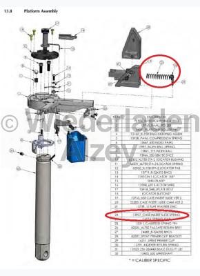 Dillon XL 650 / XL 750, Hülsen-Einsetzschieber-Feder - Case Insert Slide Spring, Art.-Nr.: 13937